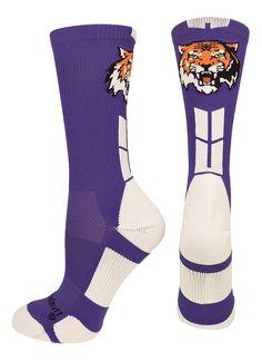 Tigers Logo Athletic Crew Socks (multiple colors)