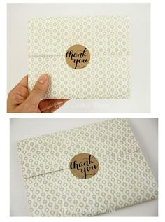 "Adhesivos - 12pcs ""Thank you"" gift wrapping sticker"