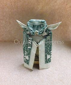 One dollar bill money origami Yoda-The best way to impress  people