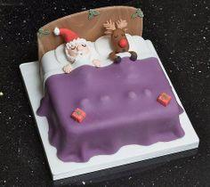 .Santa and Rudolph cake