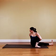 One-Legged Seated Spinal Twist    This pose is great for relieving tension in your lower back.