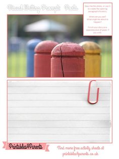 Here's a free printable Posts writing prompt sheet for your children, featuring original Printables4Parents photography.