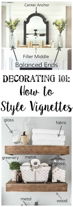 Aesthetics are everything! Learn the art of decorating with Vignette Styling plus Home Staging Tips and Ideas – Improve the Value of Your Home on Frugal Coupon Living. DIY Home Project Home Staging Tips and Ideas - Improve the Value of Your Home Interior Design Tips, Home Interior, Home Design, Design Ideas, Simple Interior, Design Styles, Farmhouse Interior, Key Design, Vintage Farmhouse