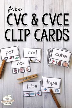 Check out this CVC and CVCE word free activity! Just print and cut apart the cards for hands-on practice with beginning reading. Love those freebies!