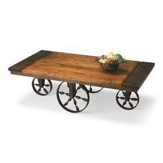 Butler Wagon Wood And Iron Coffee Table