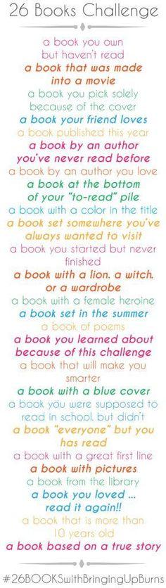 26 Book Challenge...ideas