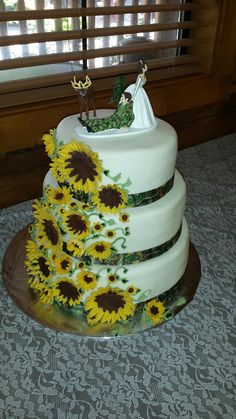 Hunt is over. Sunflowers and camo wedding