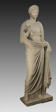 Domitia as Ceres (Demeter), Roman statue (marble), 1st century AD, (Musée d'Art Classique, Mougins).