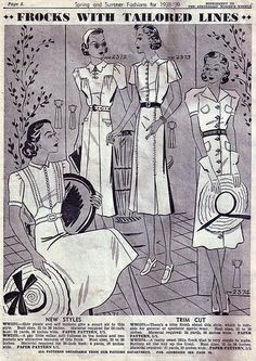 Australian Women's Weekly Spring & Summer Fashions for 1938-39 | Flickr - Photo Sharing!