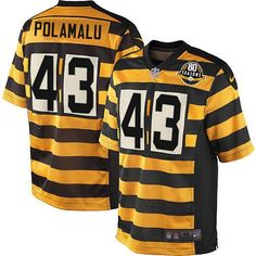 Youth Nike Pittsburgh Steelers  43 Troy Polamalu Limited 80th Anniversary  Throwback Jersey  69.99 Vince Williams bef831c02