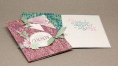 Besondere Kartenformen - Double folded pocket card mit Produkten von Sta...