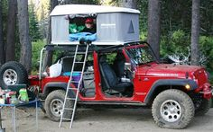 2009 Overland Expo eJep Wrangler tents