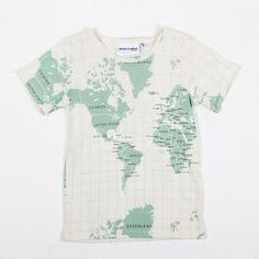 Short Sleeve T-Shirt with Map Print (MINI RODINI)
