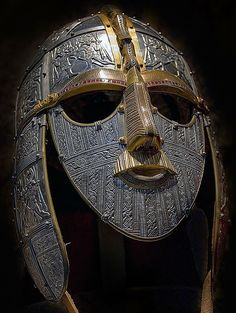 Sutton Hoo helmet, ~6th century, Anglo-Saxon - http://en.wikipedia.org/wiki/Anglo-Saxon_settlement_of_Britain