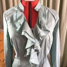 Seafoam green dress blouse Slightly stretchy - gorgeous fit!  Worn once. The Limited Tops Blouses