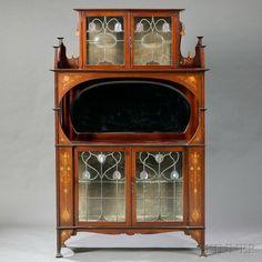 Art Nouveau Cabinet in the Manner of Shapland & Petter Mahogany, glass… Art Nouveau Interior, Art Nouveau Furniture, Art Nouveau Architecture, Art Nouveau Design, Art And Architecture, Antique Furniture, Colonial Furniture, Industrial Furniture, Muebles Art Deco
