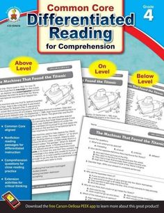 Differentiated Reading for Comprehension is designed to provide high-interest, nonfiction reading success for all readers. This 64-page book focuses on fourth grade reading skills defined by the Commo