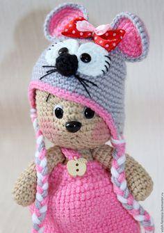 Купить Мишка в костюмчике мышки - коричневый, мышка, мишка, мишка в костюмчике, игрушка ручной работы