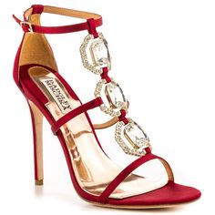 .Harvey - Red Satin Badgley Mischka