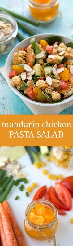 The BEST Mandarin Chicken Pasta Salad
