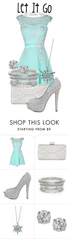 """""""Let It Go"""" by disney-teen ❤ liked on Polyvore featuring Judith Leiber, Charlotte Russe, BERRICLE and Accessorize"""