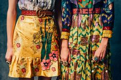 I never really like Gucci anything, but this yellow flower skirt... mm.