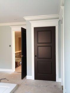 Dark Doors White Trim By Jose Reyes Brown Interior Door