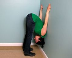 Stretch It: Forward Bend Against a Wall