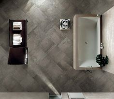 Ceramic tiles with industrial floorings effect: Contemporary Stone  #flooring #dark #grey #pattern #ceramic #tiles #classic