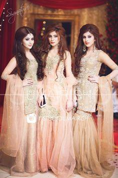 Pakistani fashion 🔥🔥🔥🔥🔥kurta & Garara with dupatta Pakistani Party Wear, Pakistani Wedding Outfits, Pakistani Couture, Pakistani Dress Design, Pakistani Dresses, Indian Dresses, Pakistani Mehndi, Shadi Dresses, Mehendi