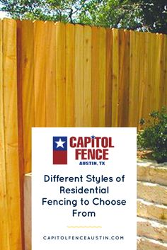See the top 3 different styles of residential fencing Austin homeowners are choosing from our company's installation and quality products
