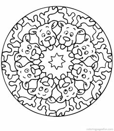 coloring page Mandala on Kids-n-Fun. Coloring pages of Mandala on Kids-n-Fun. More than coloring pages. At Kids-n-Fun you will always find the nicest coloring pages first! Adult Coloring Pages, Coloring Sheets For Kids, Mandala Coloring Pages, Coloring Pages To Print, Free Printable Coloring Pages, Coloring Books, Kids Coloring, Colouring, Mandalas Painting