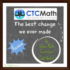 CTCMath {Review} This math program changed our homeschool! This is by far the best math we have introduced so far. No more dread - No more overwhelm. I highly recommend CTCMath for your homeschool.