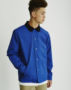 You can now buy The Hundreds Feather Jacket in Blue. Available from menswear retailer THE IDLE MAN.