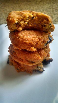 Soft Keto Pumpkin Chocolate Chip Cookies!