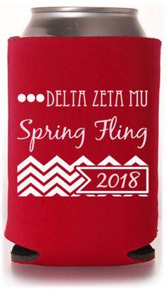 The Best Greek Koozie Designs! #greek #springfling #koozie