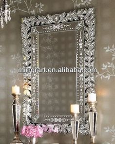 Source large venetian lean mirror with leaves flowers on m.alibaba.com
