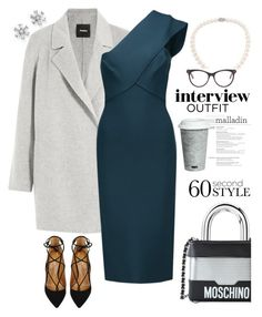 """Got it! The Job"" by rever-de-paris ❤ liked on Polyvore featuring Bloomingdale's, Moschino, Theory, Roland Mouret, Aquazzura, Adriana Orsini, Fitz & Floyd and STELLA McCARTNEY"
