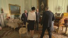 The Queen meets the Belgian royals