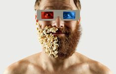 Artist Completes His Half-Shaved Beard With Everyday Objects | Weird Photoshoot