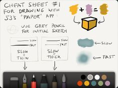 Paper 53 Cheat Sheets. I love paper 53 and use it for the majority of my sketching
