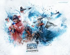 Discovery Channel - Deadliest Catch by Peter Jaworowski, via Behance  http://creativeoverflow.net/discovery-channel-deadliest-catch-case-study/#