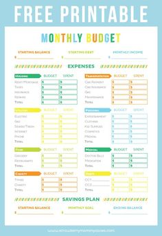 Printables Easy Budget Worksheet Printable budget binder finance and free printables on pinterest get your finances in order with this printable sheet