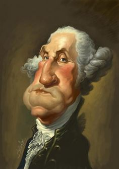TOONPOOL Cartoons - George Washington by Amir Taqi, tagged president, usa, george, washington - Category Famous People - rated / Caricature From Photo, Caricature Artist, Caricature Drawing, Funny Caricatures, Celebrity Caricatures, Web Gallery, Wow Art, Cute Chibi, Famous Celebrities