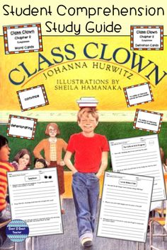 Do you remember the one kid in your class who wanted to make others laugh? Lucas Cott, a very smart third grader makes his classmates laugh but he is always getting in trouble. Johanna Hurwitz's book, Class Clown, is a perfect first chapter book for you Reading Resources, Teaching Reading, Learning, Teacher Tools, Teacher Resources, Elementary Teacher, Elementary Schools, Literacy Stations, Chapter Books