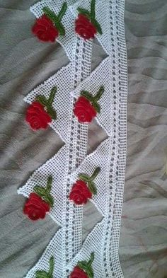 This Pin was discovered by HUZ Crochet Lace Edging, Crochet Diagram, Filet Crochet, Crochet Doilies, Crochet Flowers, Beginner Quilt Patterns, Quilting For Beginners, Baby Knitting Patterns, Crochet Patterns