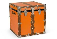 One Kings Lane - Randall Barbera - Magic Theatrical Cube Trunk, C. 1890