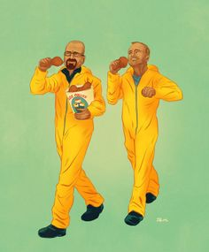 #Illustrations Of #Pop #Culture's Most Famous Buddies