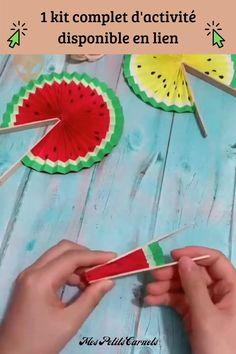 Popsicle Crafts, Diy Crafts For Gifts, Summer Crafts, Cute Crafts, Paper Crafts, Diy For Kids, Easy Crafts For Kids, Cool Fidget Toys, Church Crafts