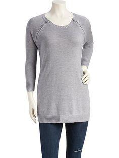 Side-Zip Nursing Tunic Sweater Product Image